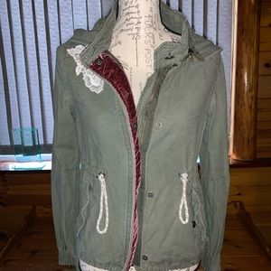 Anthropologie Daughters Green Utility Jacket
